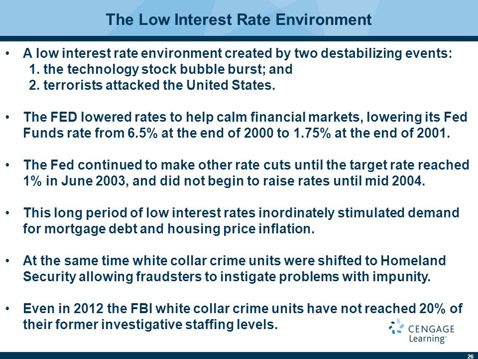 The Low Interest Rate Environment