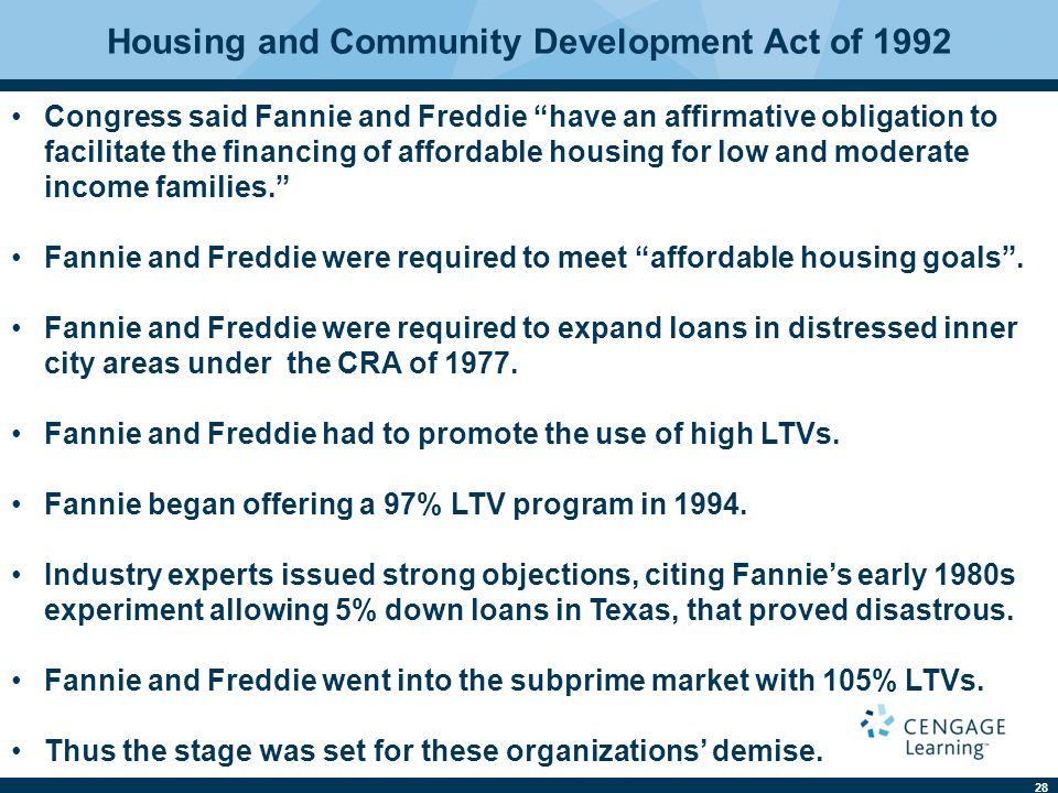 Housing and Community Development Act of 1992