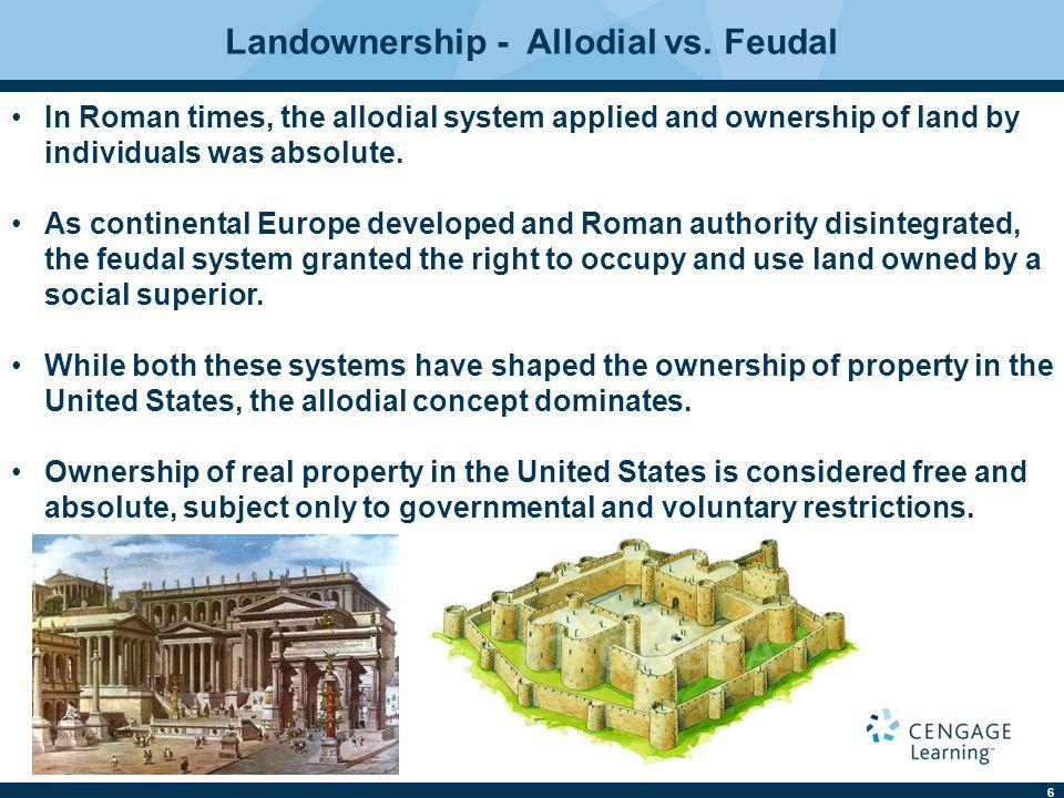 Landownership - Allodial vs. Feudal