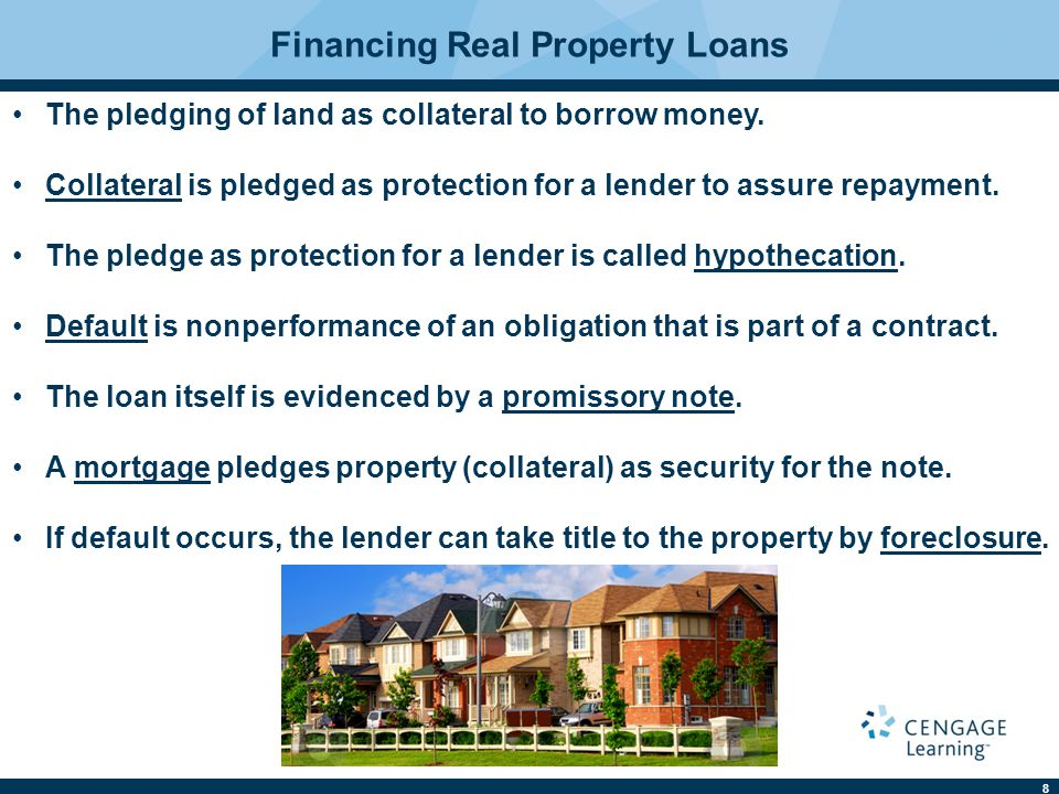 Financing Real Property Loans