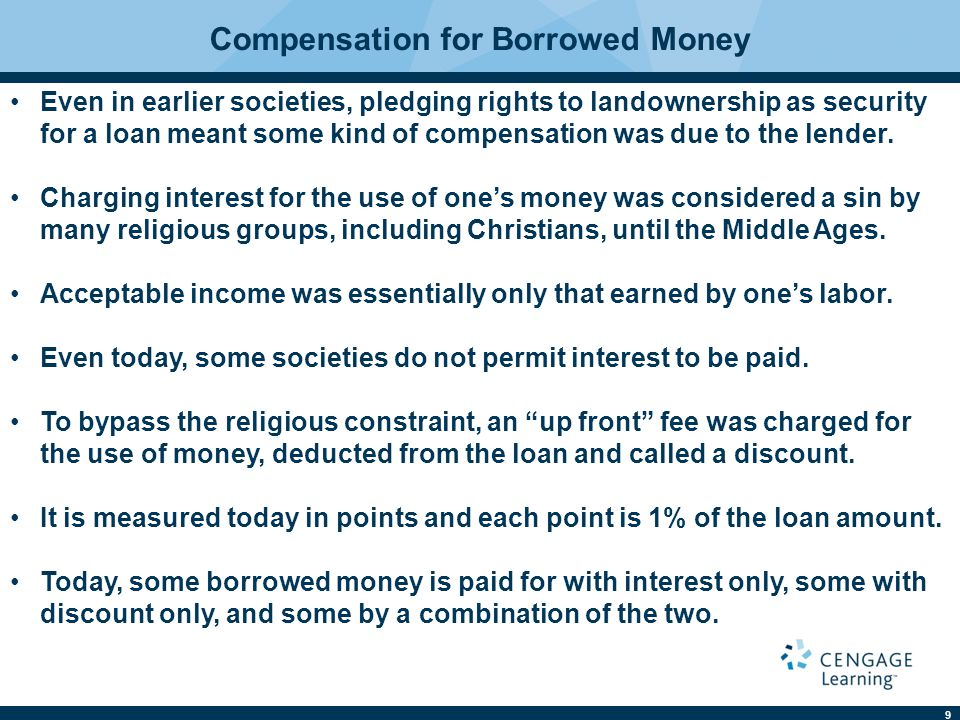 Compensation for Borrowed Money