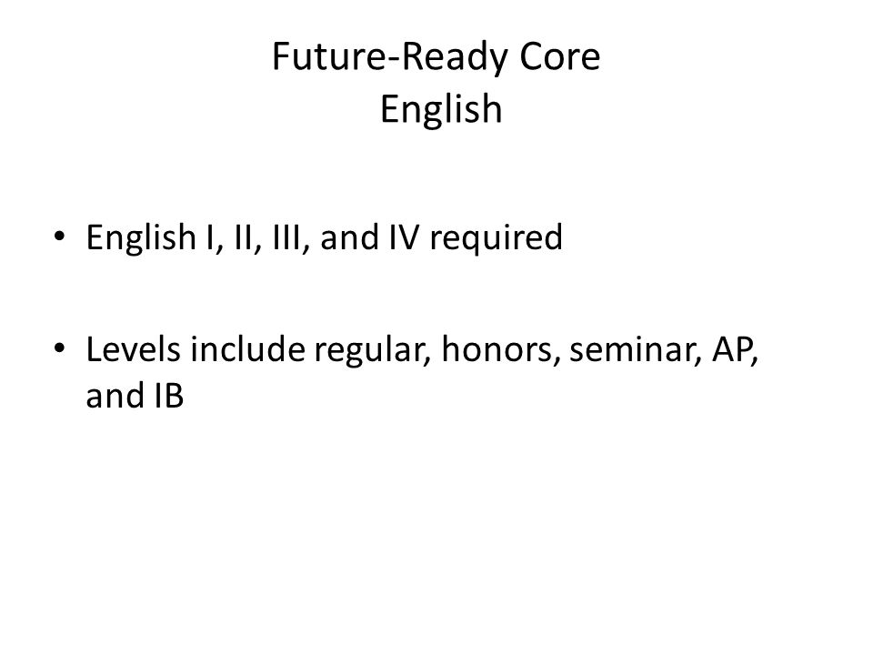 Future-Ready Core English