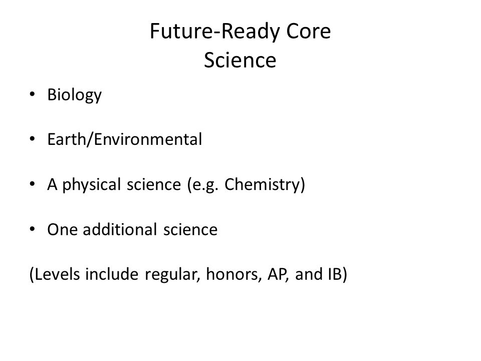 Future-Ready Core Science