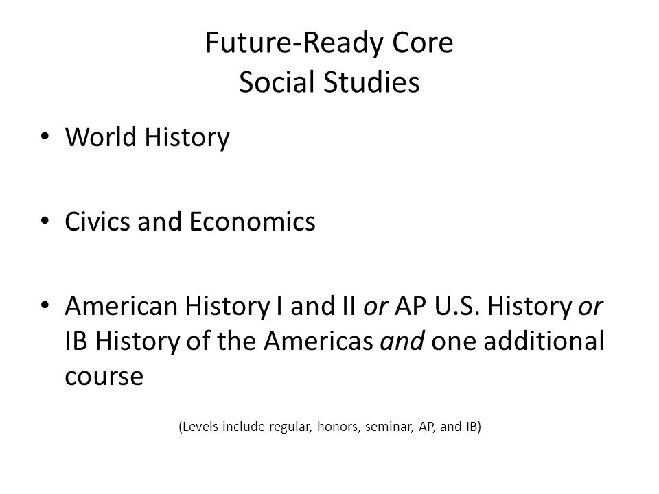 Future-Ready Core Social Studies