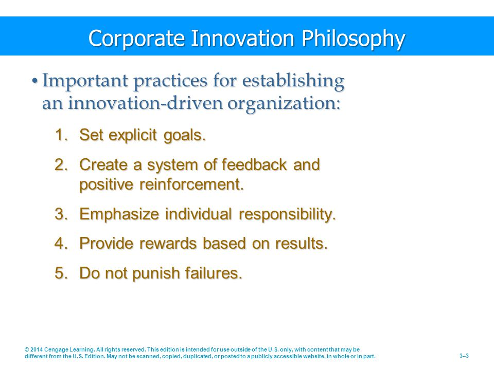 Corporate Innovation Philosophy