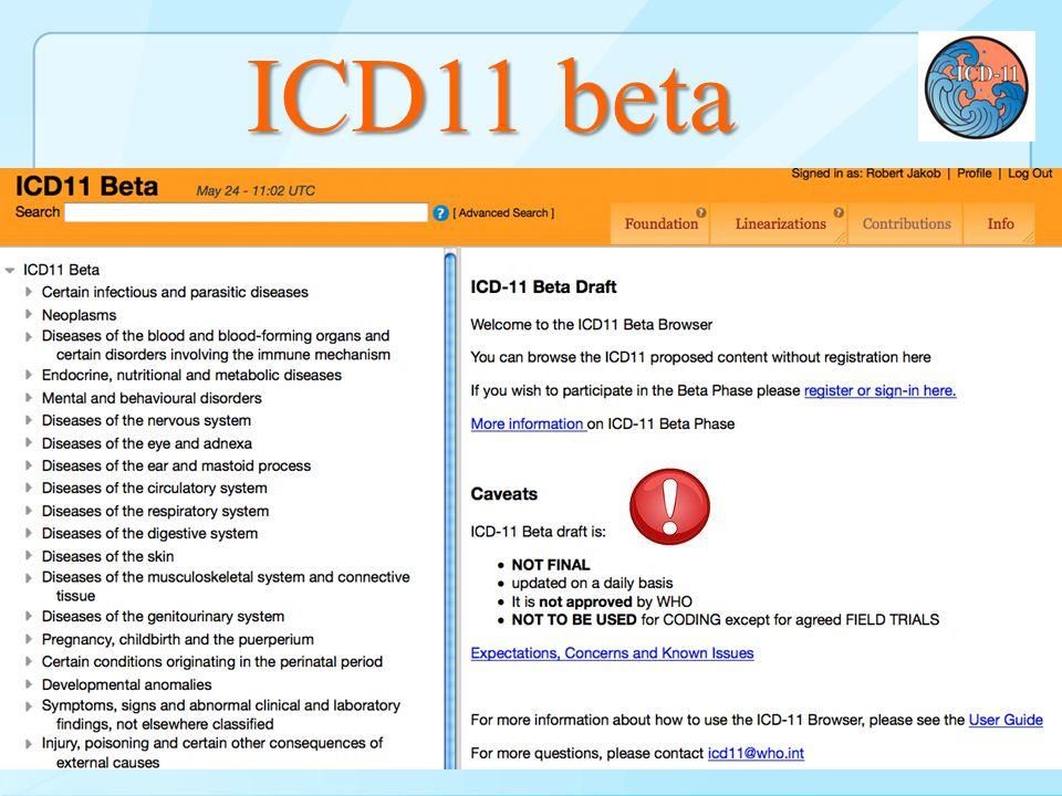 ICD11 beta Beta – Browser & Print