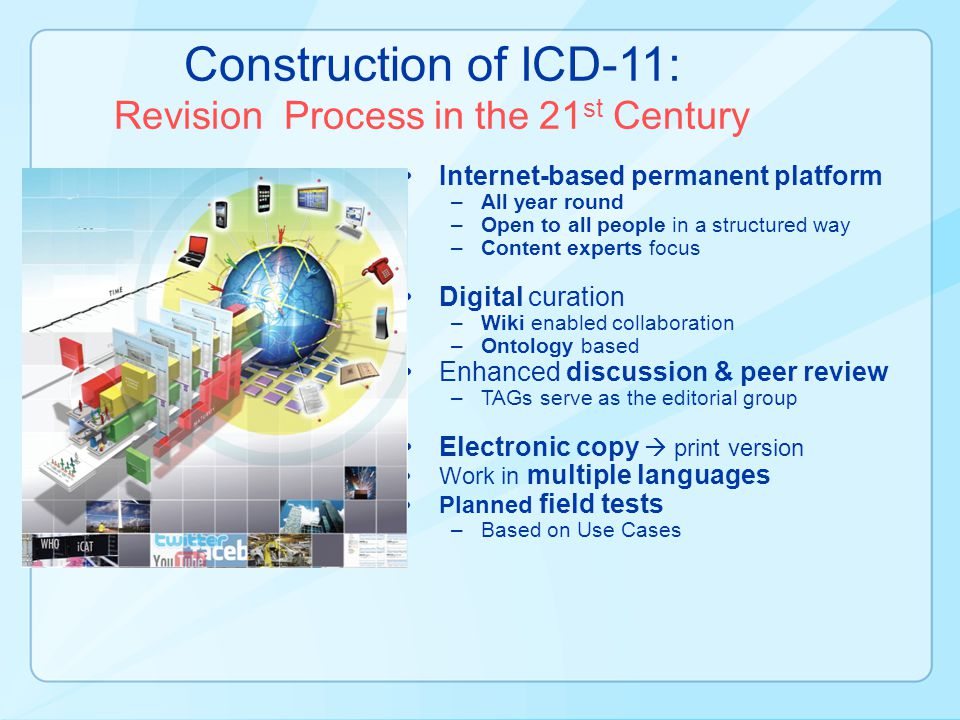Construction of ICD-11: Revision Process in the 21st Century
