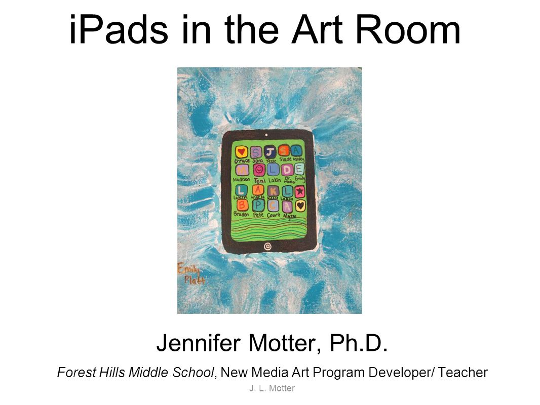 iPads in the Middle School Art Room
