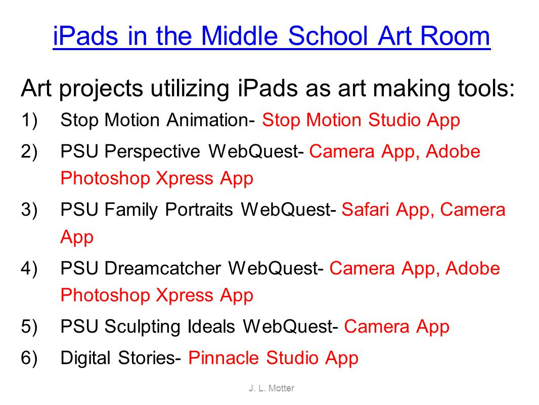 iPad Project 1: Stop Motion Animation