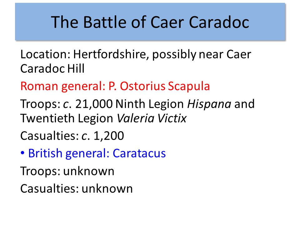 The Battle of Caer Caradoc