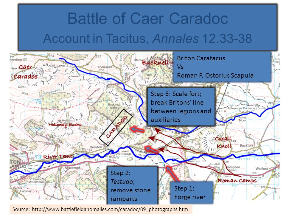 Battle of Caer Caradoc Account in Tacitus, Annales 12.33-38