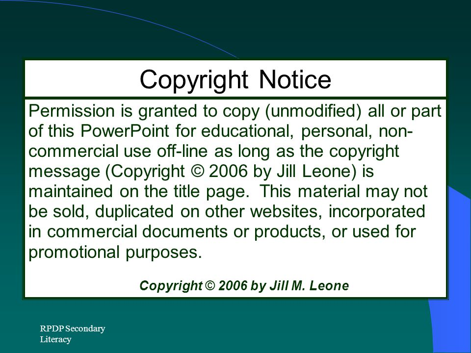 Copyright © 2006 by Jill M. Leone