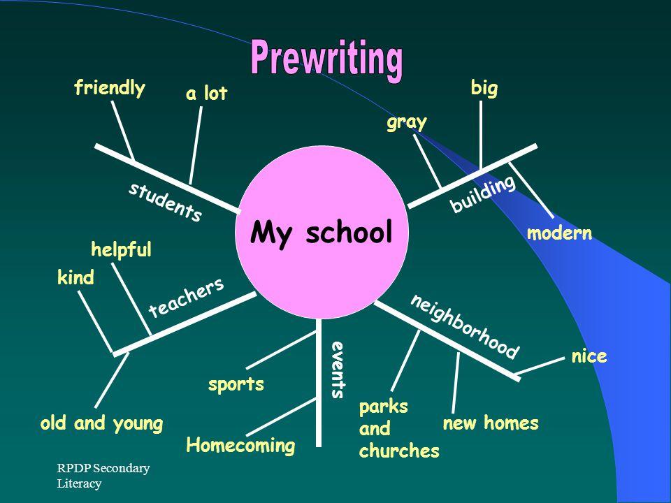 My school Prewriting friendly big a lot gray building students modern