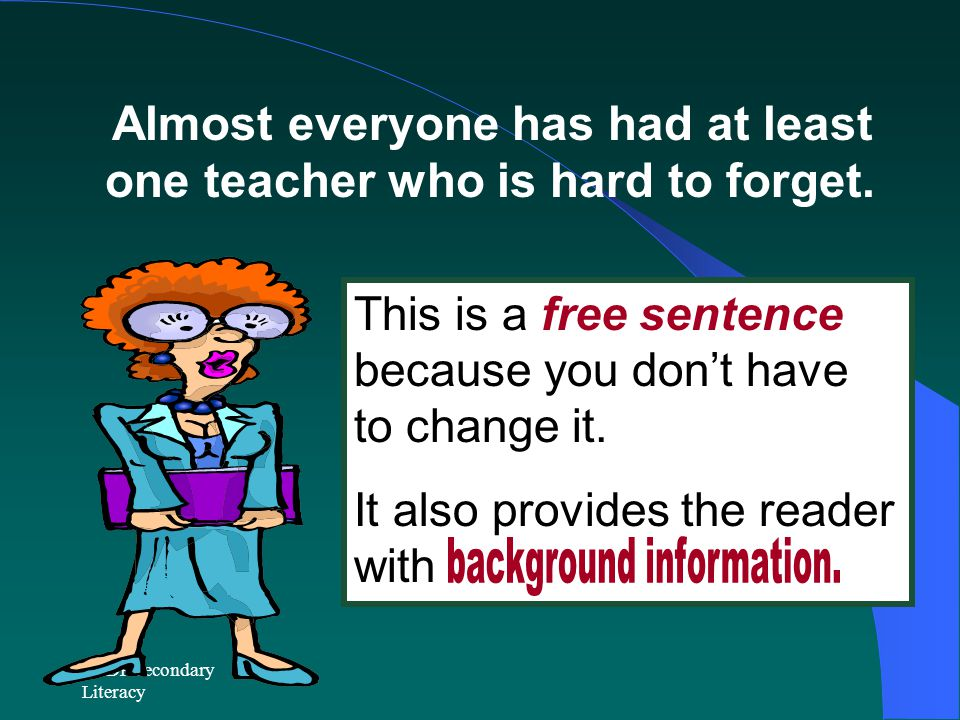 background information.