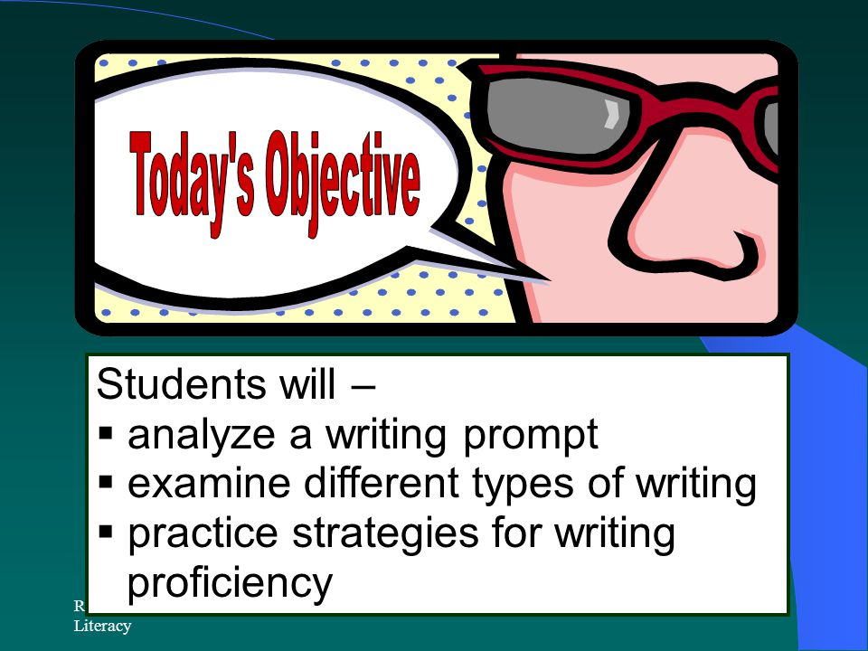 analyze a writing prompt examine different types of writing