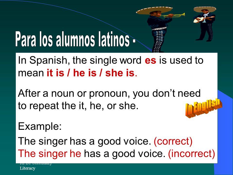 Para los alumnos latinos -