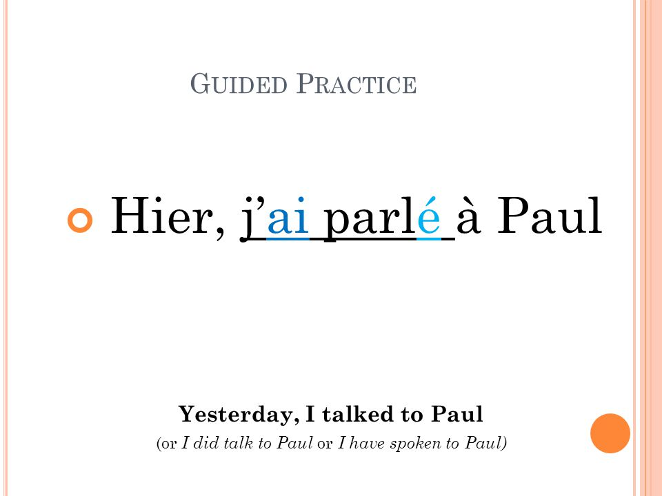 Yesterday, I talked to Paul