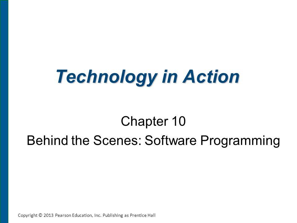 Chapter Topics Understanding software programming