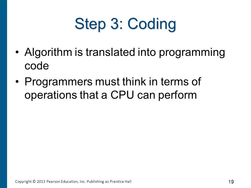 Step 4: Debugging Code goes through process of debugging