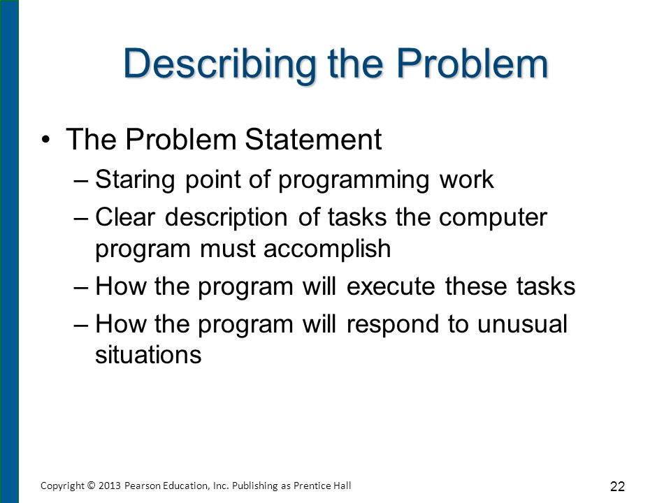 Creating Problem Statements