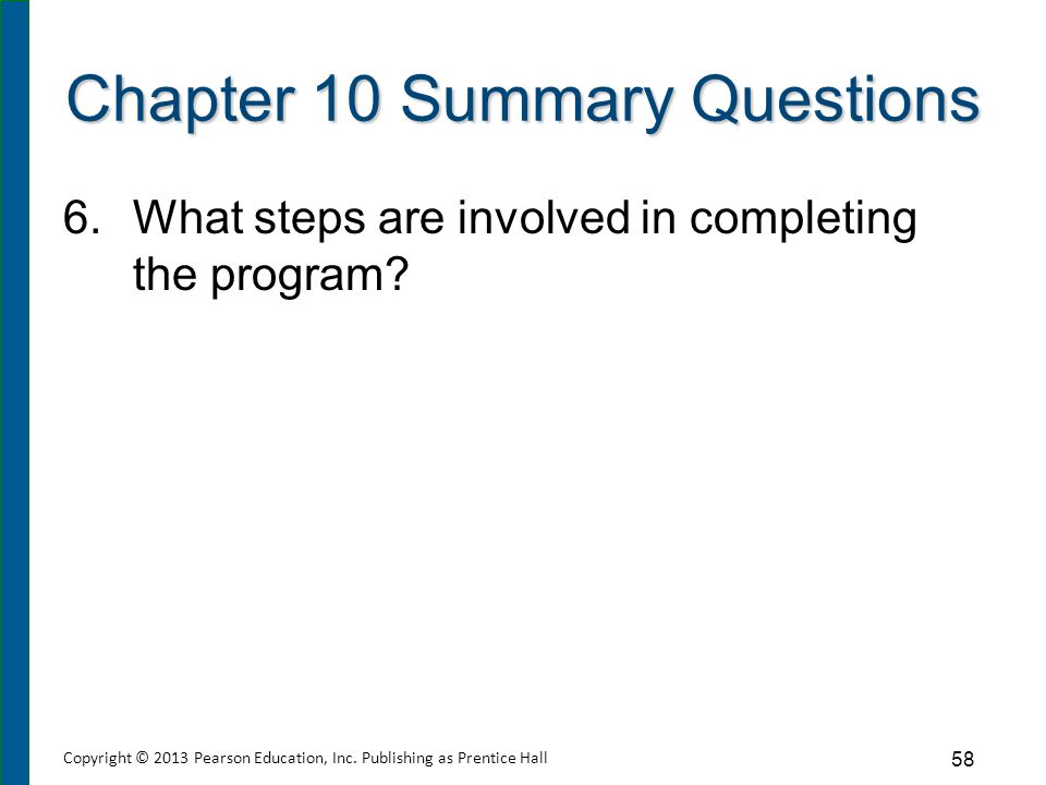 Chapter 10 Summary Questions