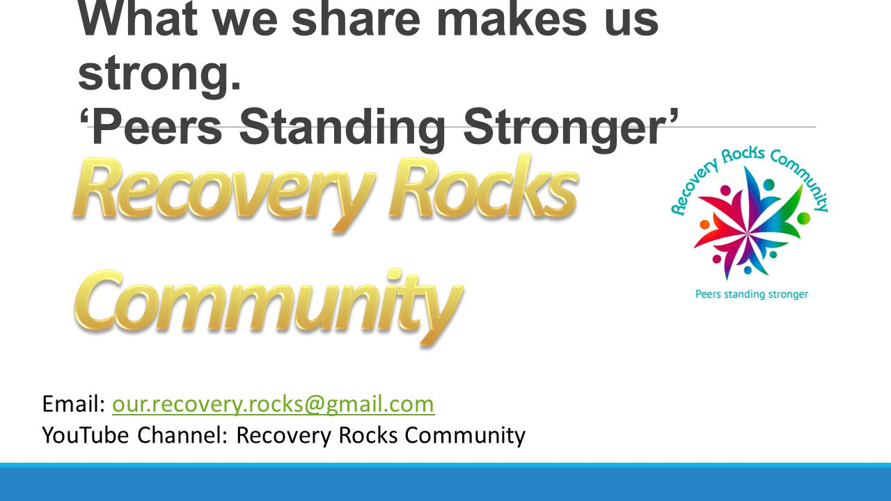 What we share makes us strong. 'Peers Standing Stronger'