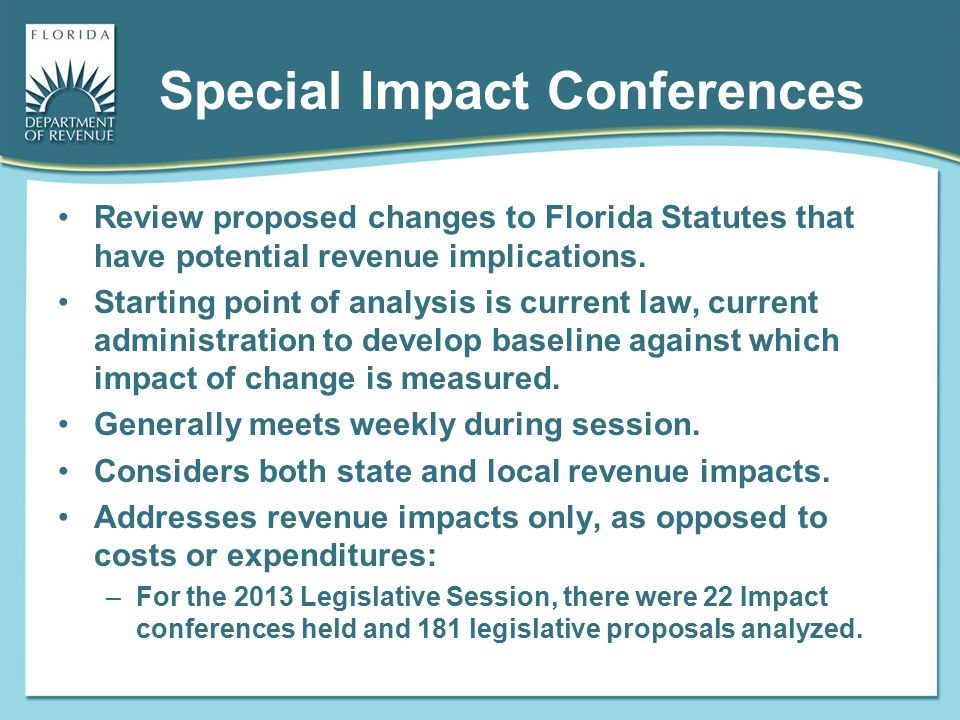 Special Impact Conferences