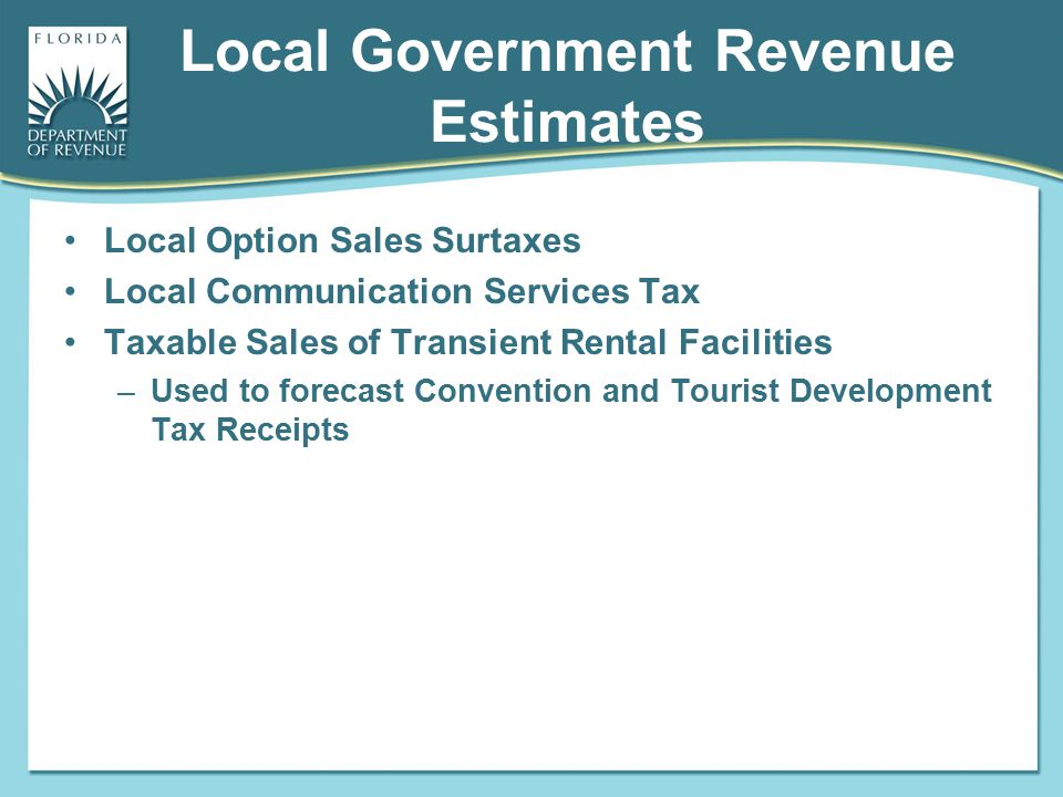 Local Government Revenue Estimates