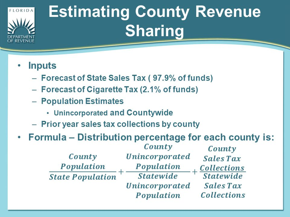 Estimating County Revenue Sharing