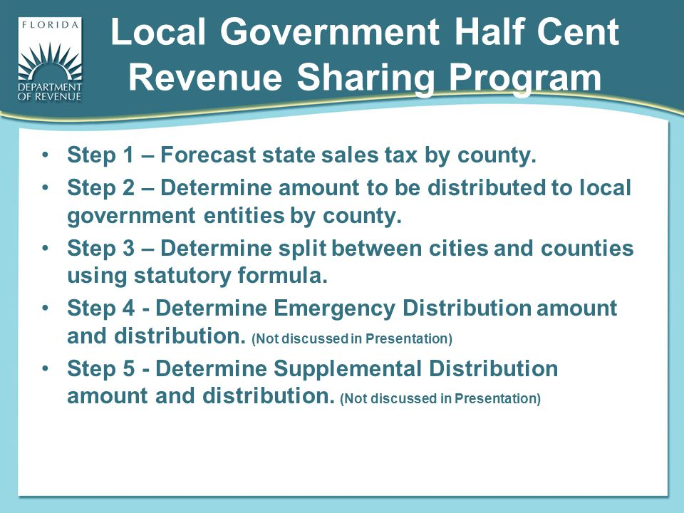 Local Government Half Cent Revenue Sharing Program