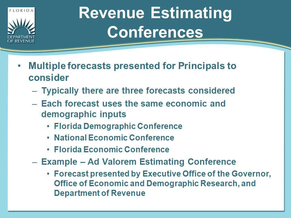 Revenue Estimating Conferences
