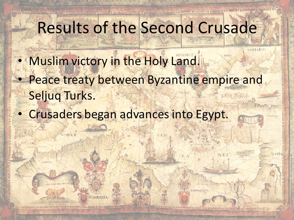 Results of the Second Crusade