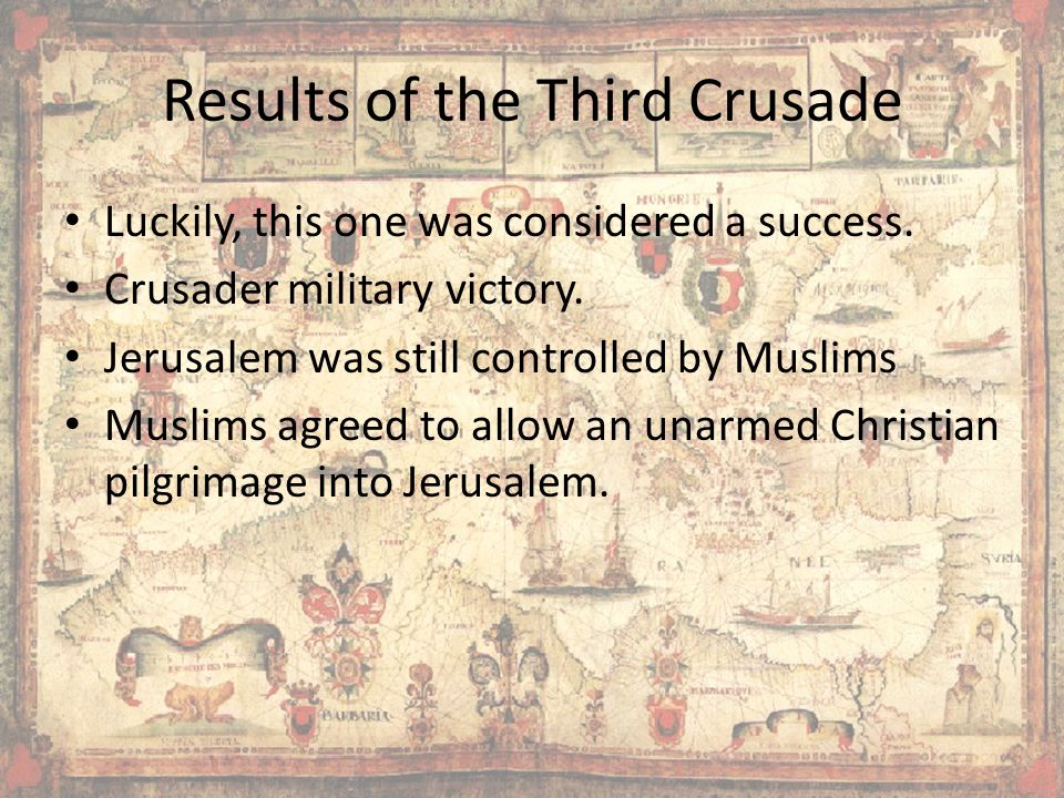 Results of the Third Crusade