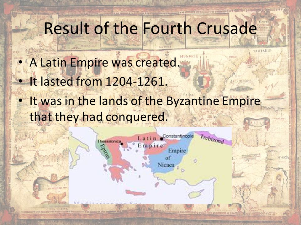Result of the Fourth Crusade