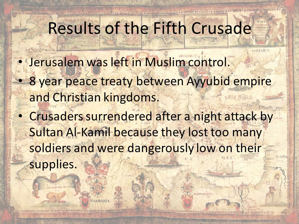 Results of the Fifth Crusade