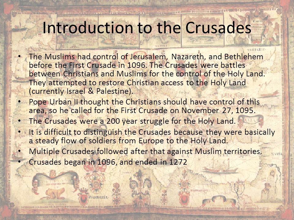 Introduction to the Crusades
