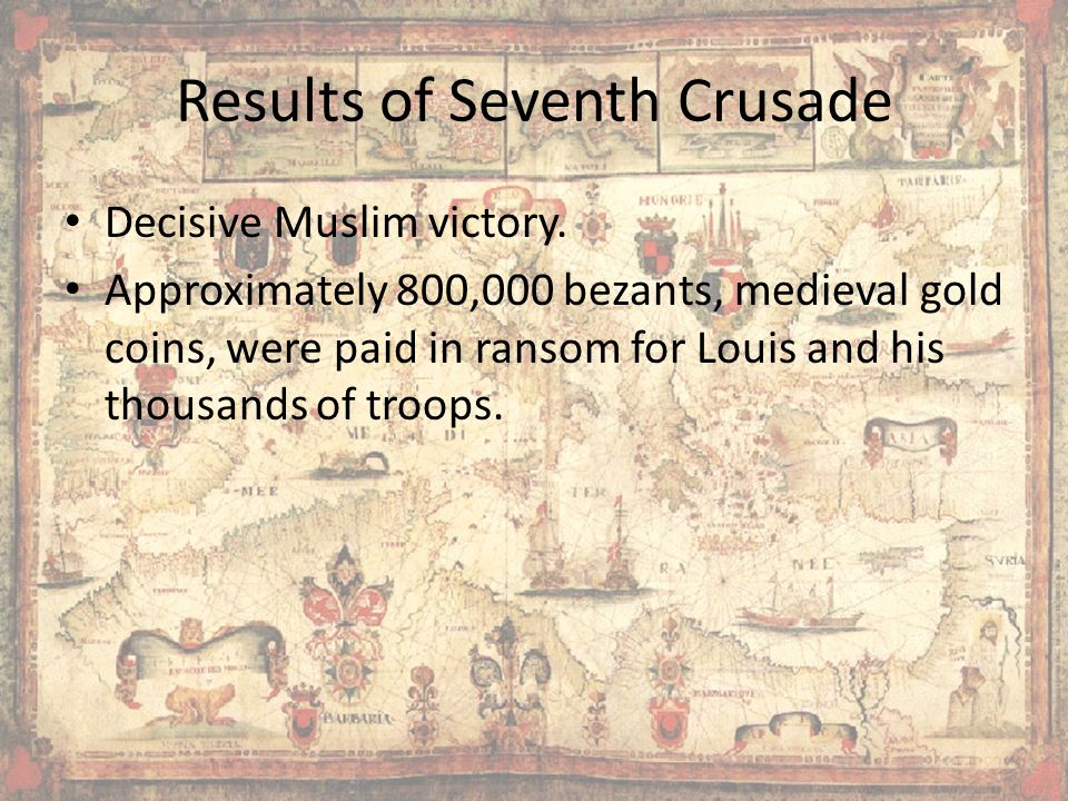 Results of Seventh Crusade