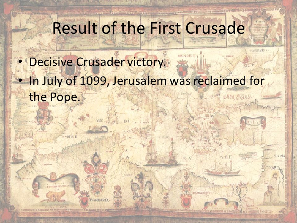 Result of the First Crusade
