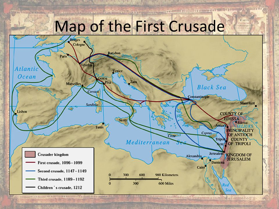 Map of the First Crusade