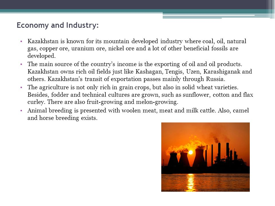 Economy and Industry: