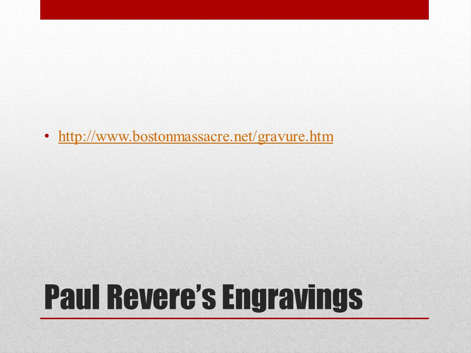 Paul Revere's Engravings