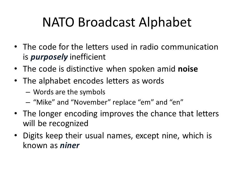 NATO Broadcast Alphabet