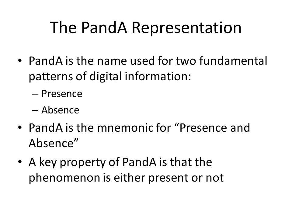 The PandA Representation