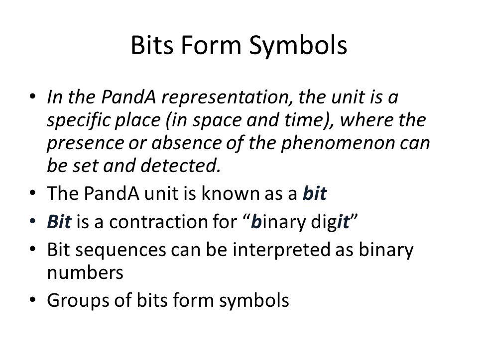 Bits Form Symbols