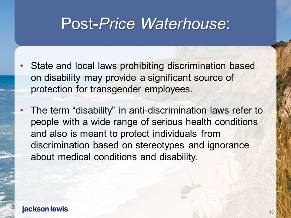 Post-Price Waterhouse: