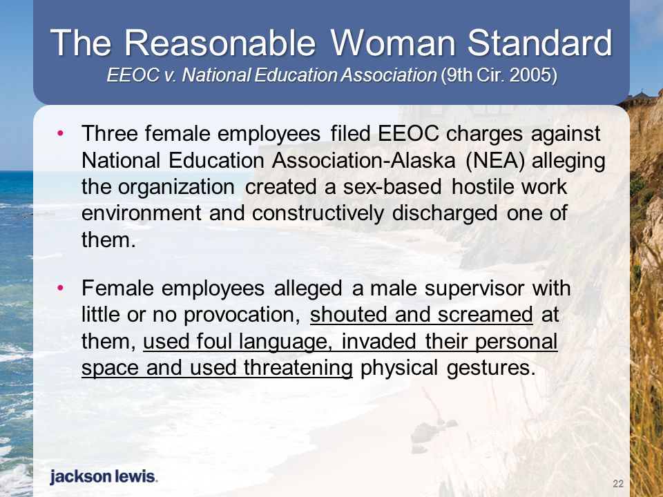 The Reasonable Woman Standard EEOC v