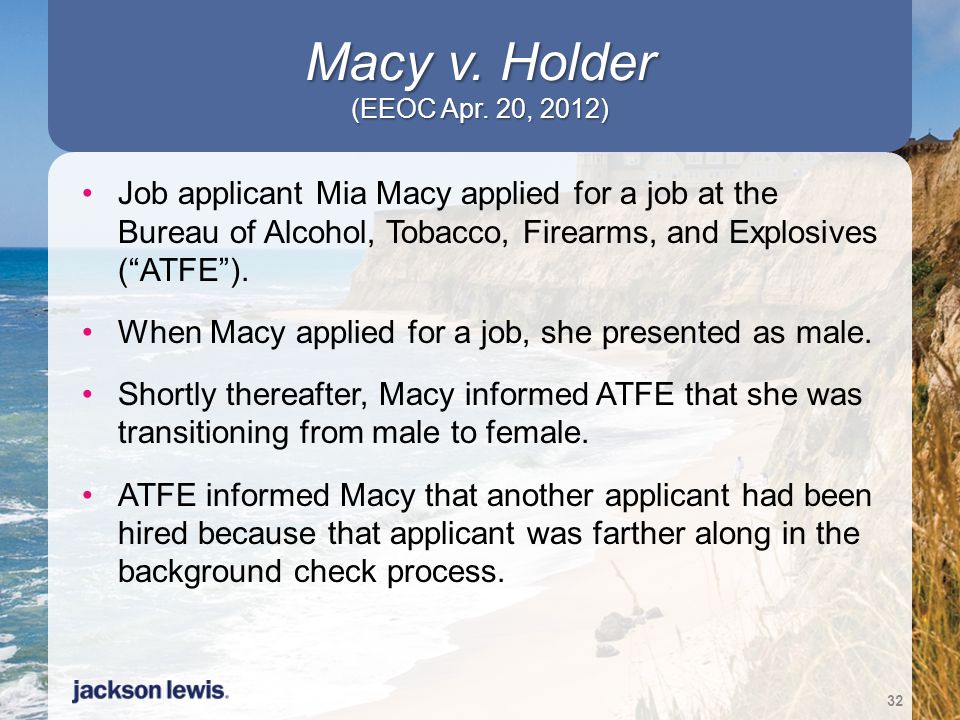 Macy v. Holder (EEOC Apr. 20, 2012)