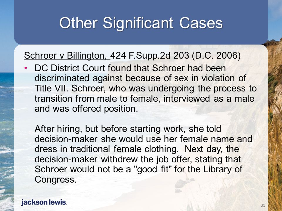 Other Significant Cases
