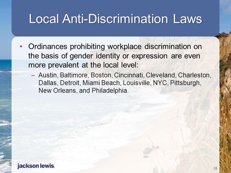 Local Anti-Discrimination Laws