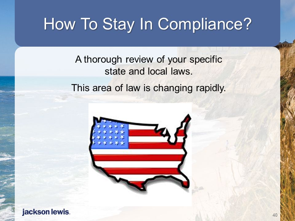 How To Stay In Compliance